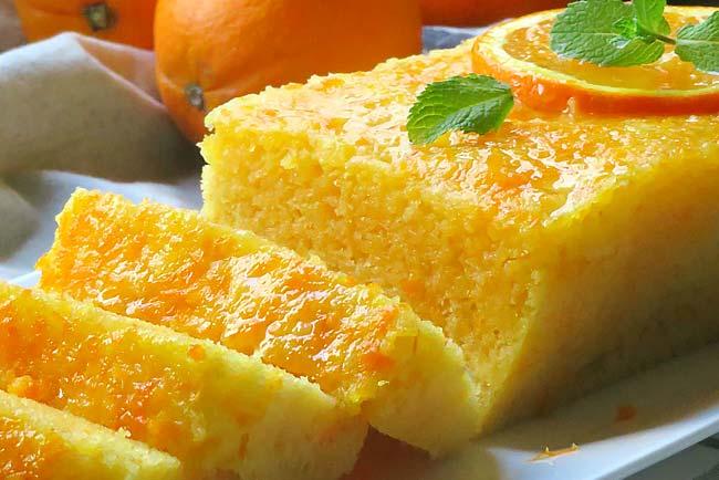 Bolo de laranja fofo