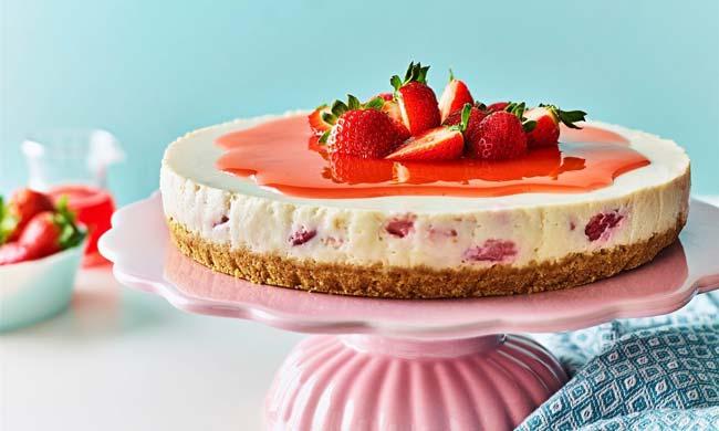 receitas de cheesecake de morango