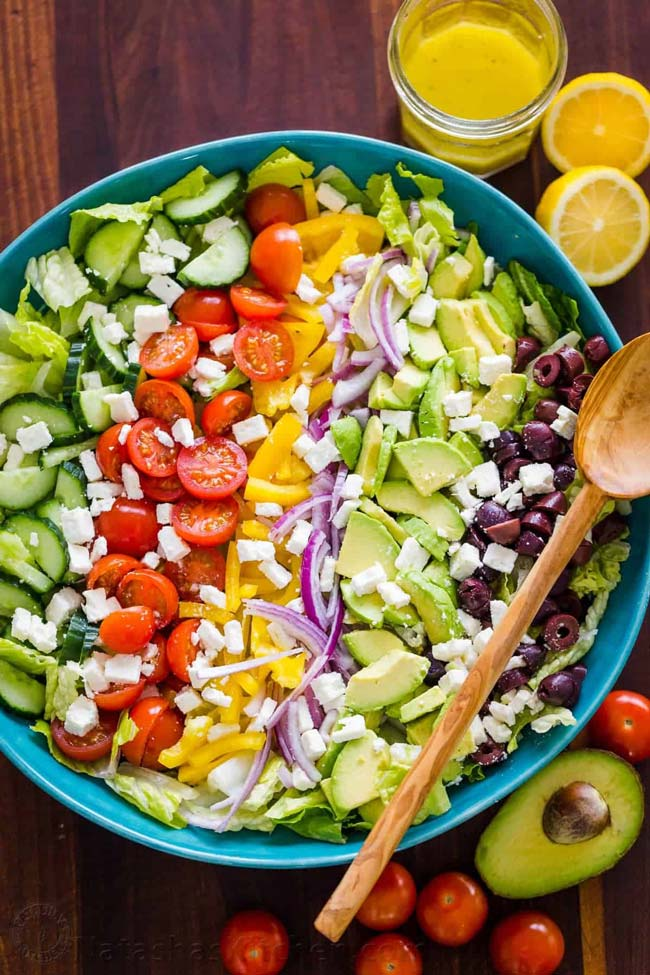 comer salada antes ou no fim
