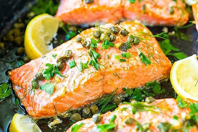 salmão assado no forno como