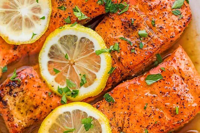 Faça salmão assado