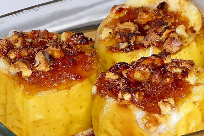 receitas de maçã assada da avó