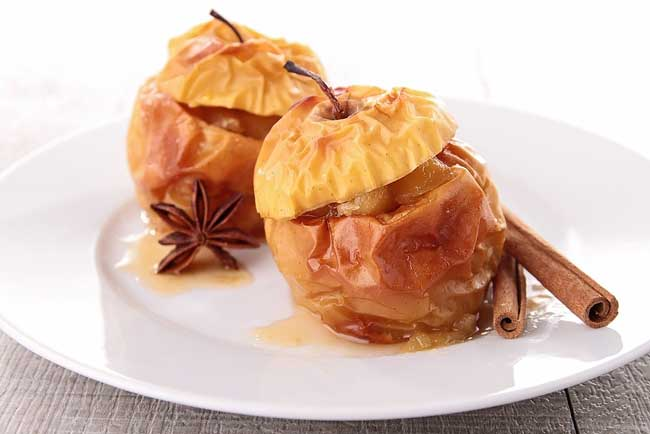 melhores receitas de maçã assada no microondas