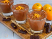 Mousse de chocolate com laranja