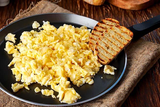 ovos mexidos perfeitos