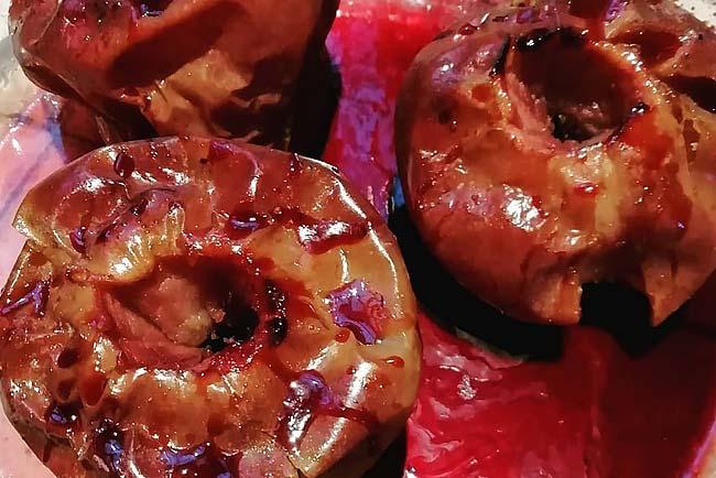 de maçã assada no forno