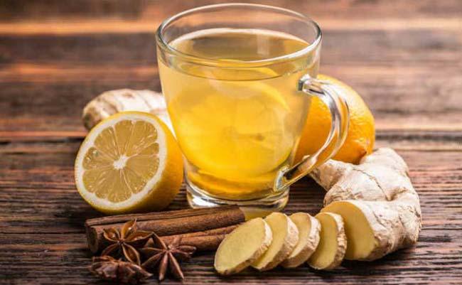 Chá de gengibre e canela