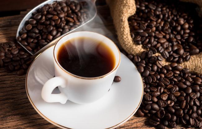 após beber um café
