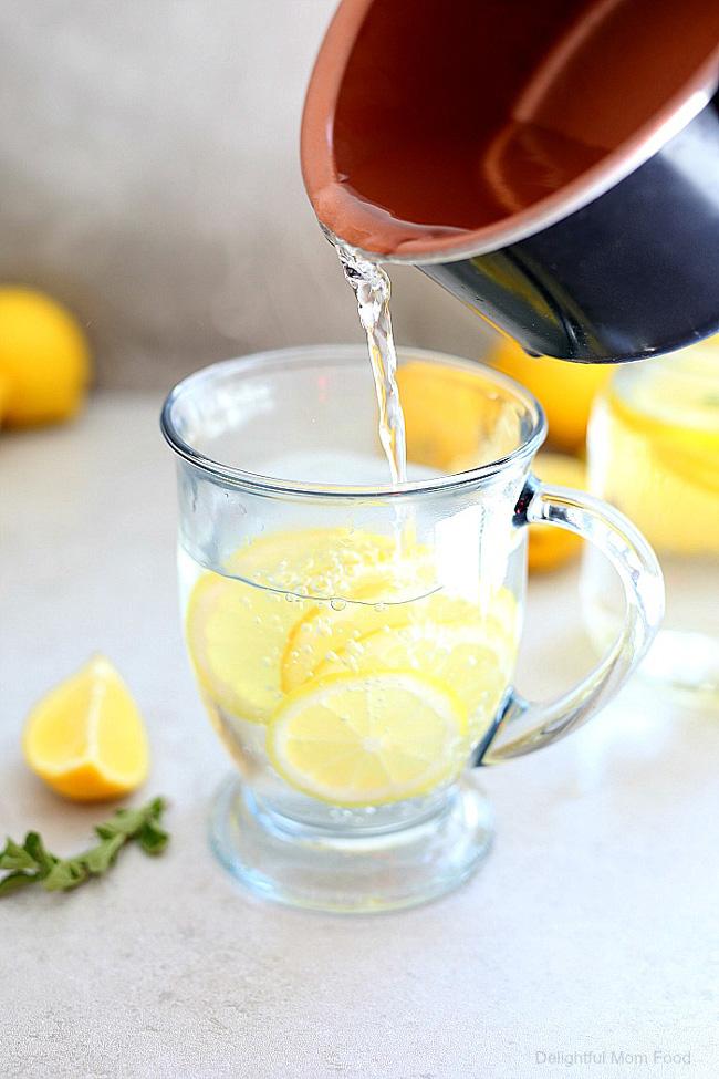 beber água com gengibre