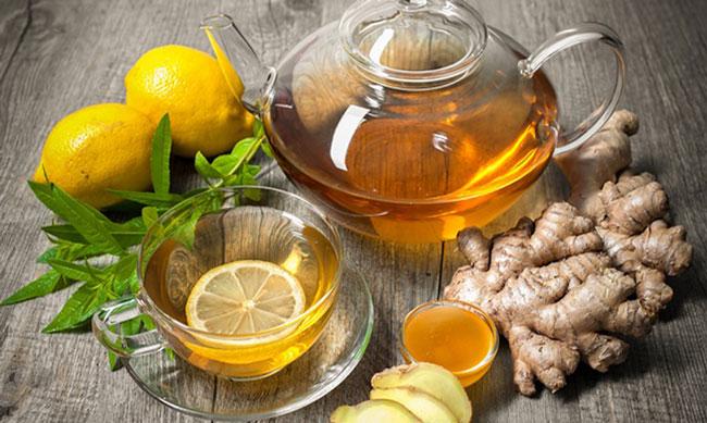 Chá de hortelã com gengibre para emagrecer
