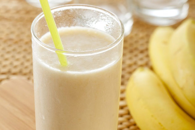 receita de batido de banana e gengibre
