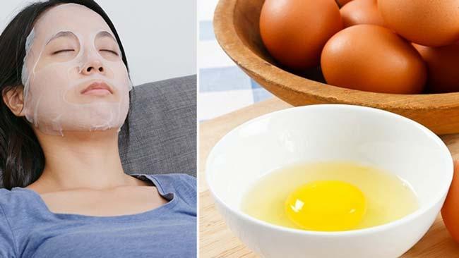 clara de ovo para a pele e cabelos