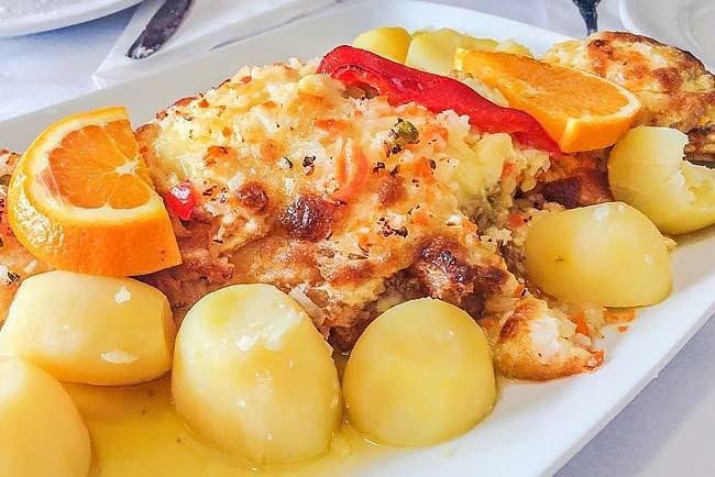 bacalhau assado no forno com maionese