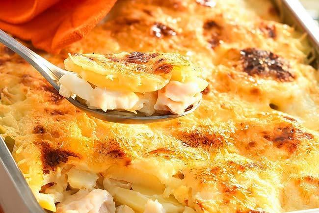 receitas de Bacalhau com natas à Portuguesa
