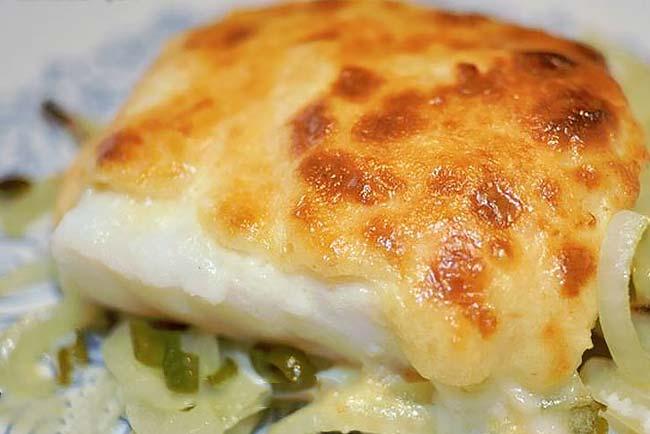 Bacalhau gratinado