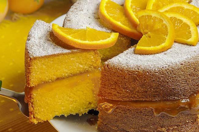 melhor bolo de laranja húmido