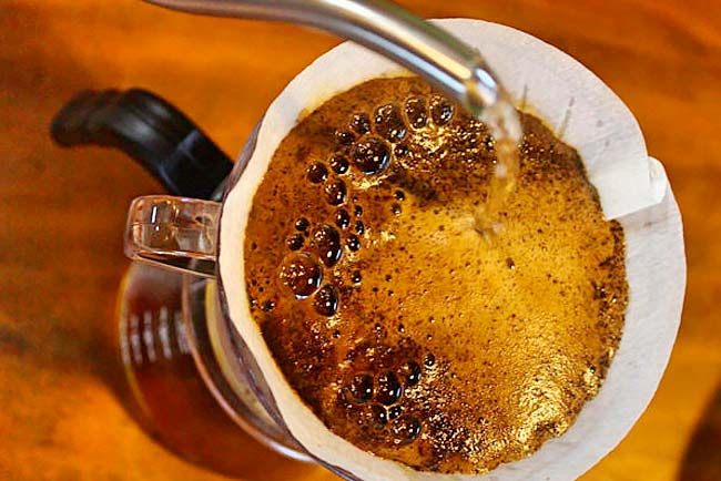 erros ao coar café
