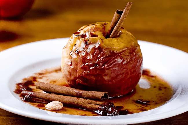 As melhores maçãs assadas no forno