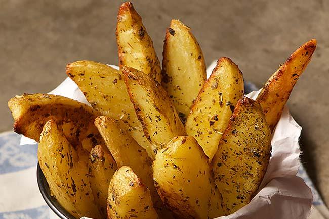 batata assada rústica no forno