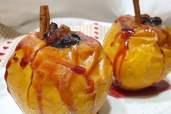 maçãs assadas no forno