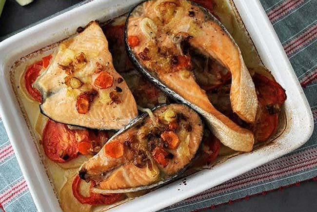 melhor salmão assado no forno