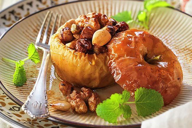 receitas de maçã assada com mel