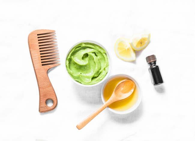 máscaras de cabelo com ingredientes