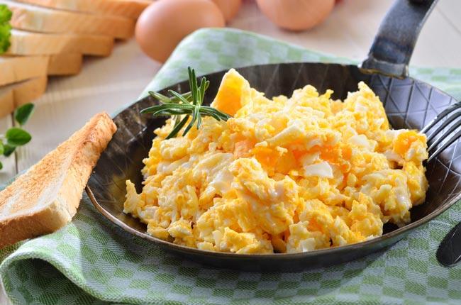 fazer ovos mexidos perfeitos
