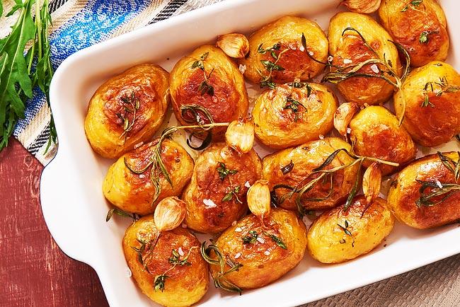batatas assadas com caril