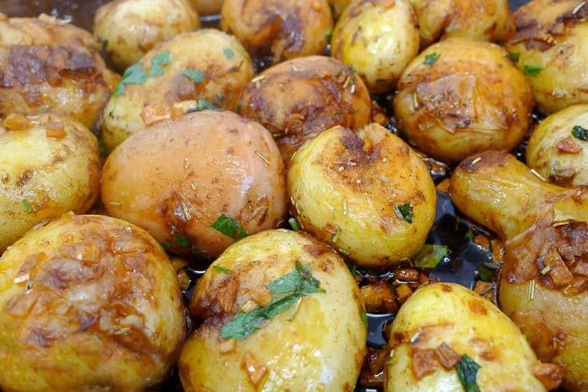 Batata assada suculenta