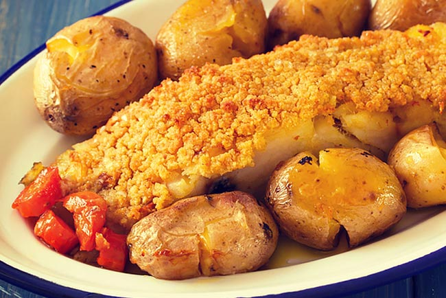 O melhor bacalhau com broa de milho