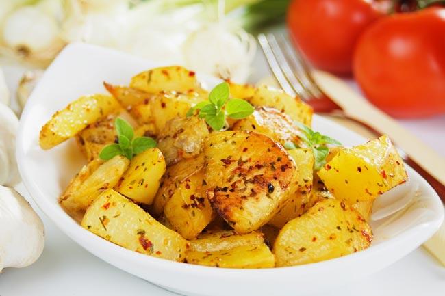 batatas assadas com açafrão
