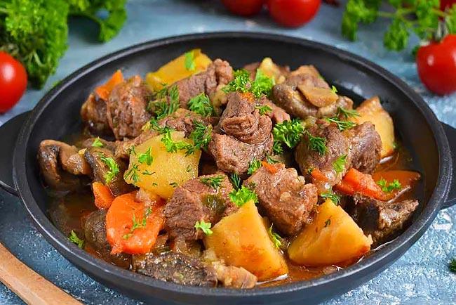 carne estufada tenra como nos restaurantes