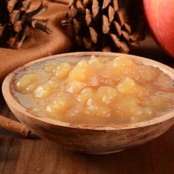 compota de maçã e canela