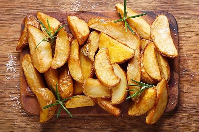 batatas assadas rústicas com alecrim