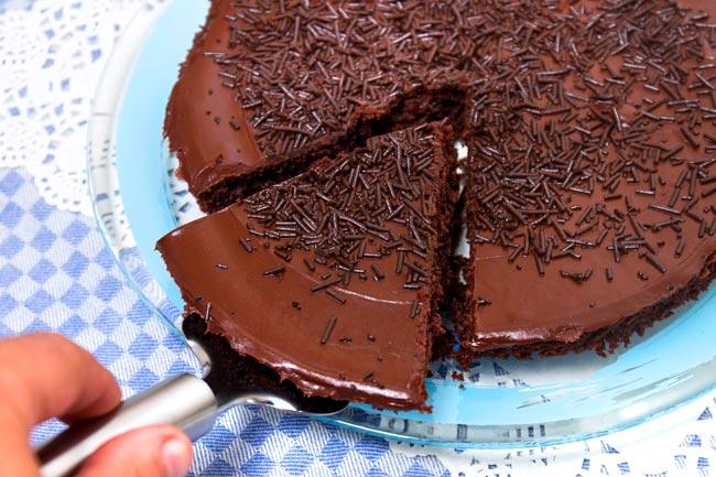 bolo de chocolate para liquidificador