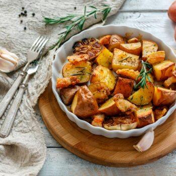 batatas assadas com pimentão