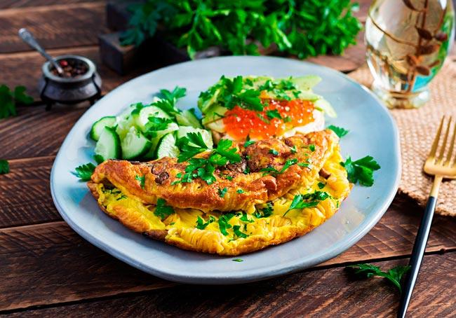 como fazer a omelete rápida