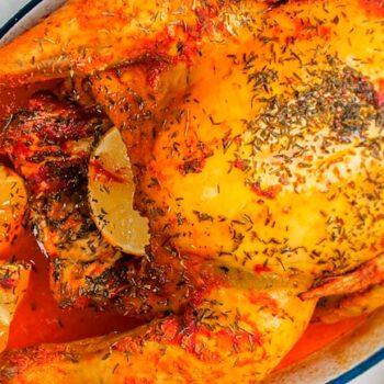 frango assado com tomilho