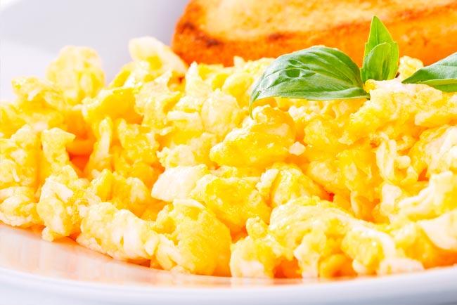 ovos mexidos cremosos