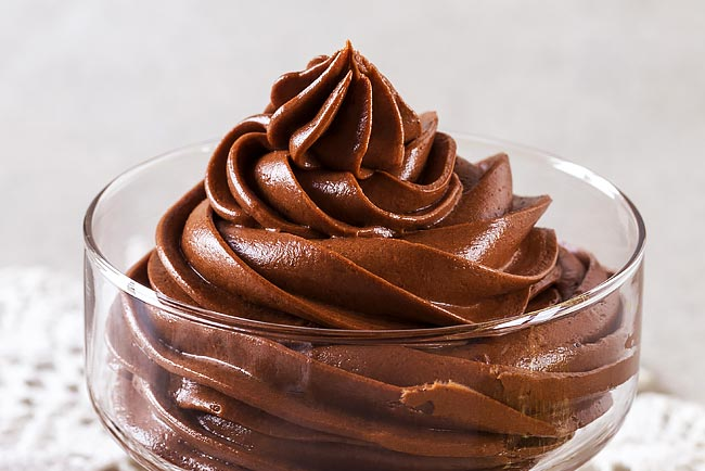 mousse de chocolate vegan