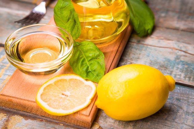 azeite e limão