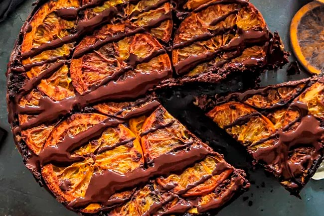 bolo de chocolate com sal