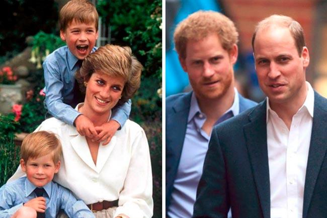 príncipe Harry e o irmão herdaram