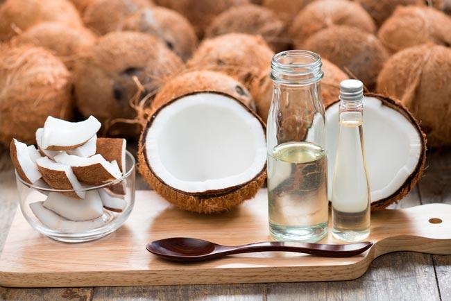 usar óleo de coco eficazmente