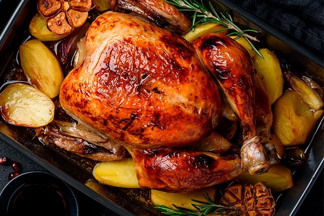 regras de ouro para um frango assado suculento