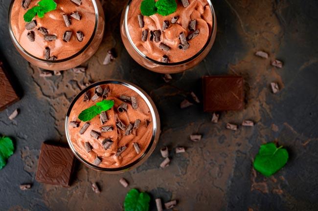 mousse de chocolate caseira da avó Palmira
