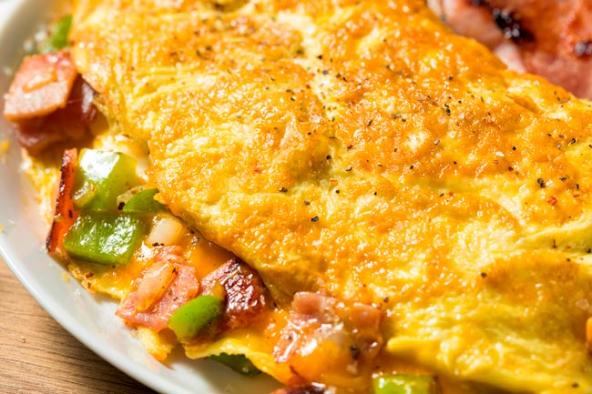 omelete perfeita e rápida
