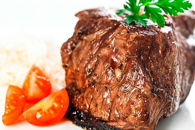 tenra e suculenta carne assada