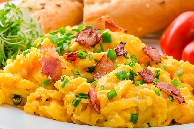 ovos mexidos cremosos perfeitos